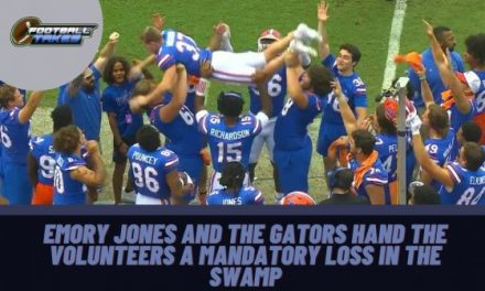 Emory Jones and the Gators hand the Volunteers a mandatory Loss in the Swamp