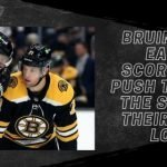 Bruins Use Early Scoring to Push To Hand the Sharks Their First Loss
